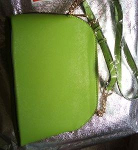 Lime Green Chain Strap Purse